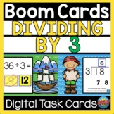 Math BOOM CARDS Division Dividing by 3 Distance Learning |