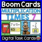 Multiplication BOOM CARDS Times 7 Distance Learning | Math