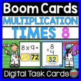 BOOM CARDS Math Distance Learning | Multiplication Times 8