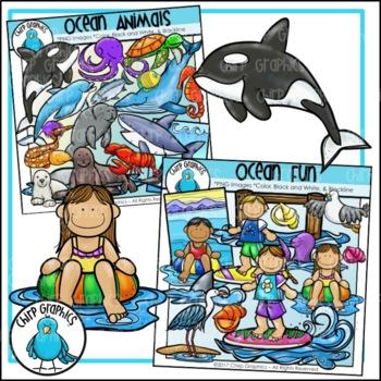 Ocean Clip Art Mega-Bundle - Chirp Graphics