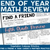 5th Grade End of Year Math Review Activities