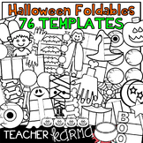 76 HALLOWEEN Foldables, Interactives & Flip Book TEMPLATES