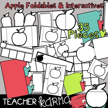 APPLE Foldables, Interactives & Flip Book TEMPLATES