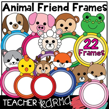 Animal Friend Frames * Clipart