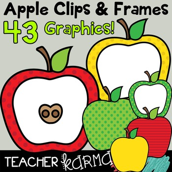 Apple Clips & FRAMES!  43 Graphics