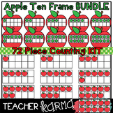 Apple Ten Frames & Counting * Math TEMPLATES KIT