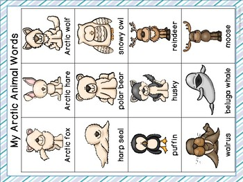 Arctic Word Wall Cards & Personal Word Wall