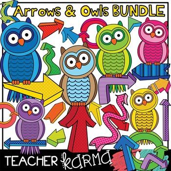 Arrows & Owls Clipart BUNDLE