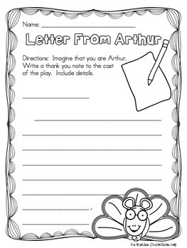 Arthur's Thanksgiving Literacy Kit ~ Reading Comprehension