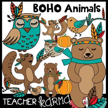 BOHO Animals Clipart