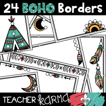 BOHO Borders Clipart * Native American