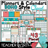 BOHO Planners * Calendars * To Do Lists * Clipart KIT