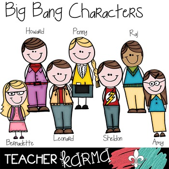Science Clipart ~Big Bang Theory Scientists Doodles ~ BAZI