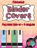 Editable Binder Covers, Watrcolor