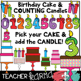 Birthday Cakes & COUNTING Candles Kit * Math Manipulatives