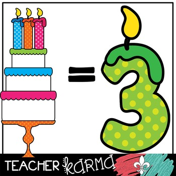 Birthday Cakes & COUNTING Candles Kit * Math Manipulatives