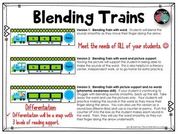 Blending Sounds ~ Blending Trains ~ Word Reading ~ Phonics RTI