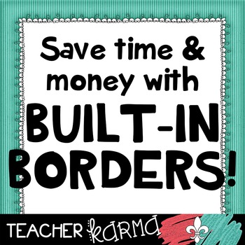 Border Papers BUILT-IN ~ Spring ~ Save time! Save $$