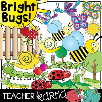Bright Bugs Clipart * Insects
