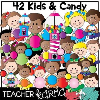 Bubble Gum Kids Clipart BUNDLE * Seller's Kit *