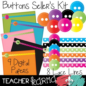 Buttons Seller's Kit Clipart ~ Commercial Use OK ~ Lace