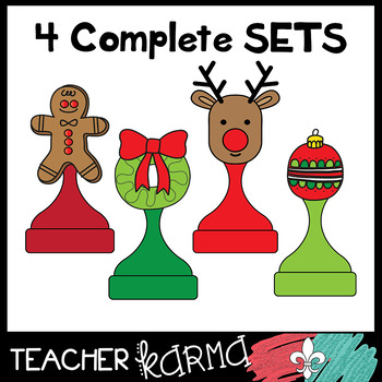 CHRISTMAS Game Boards & Pieces Bundle  #1
