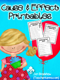 Cause & Effect Printables ~ TEST PREP!  Reading Comprehension