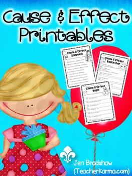 Cause & Effect Printables ~ TEST PREP!  Reading Comprehension