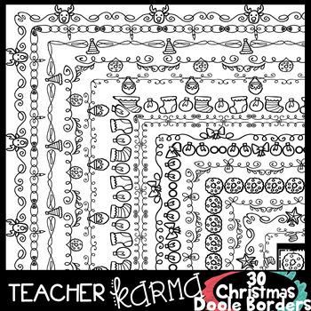 Christmas Doodle Borders
