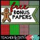 Christmas Frames ** FREE BONUS:  Digital Papers **