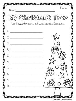 Christmas Printables ~ NO PREP!  Holiday Reading & Writing