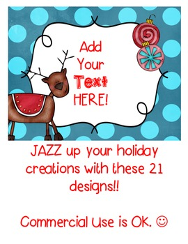 Christmas QUICK PAGES Seller's Kit Clipart ~ Commercial Use OK