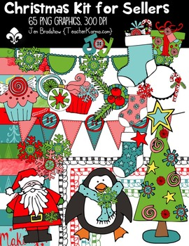 Christmas Seller's Kit with Santa ~ Commercial Use OK