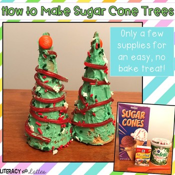 Christmas Tree Sugar Cones {cooking, craft and how to writing}