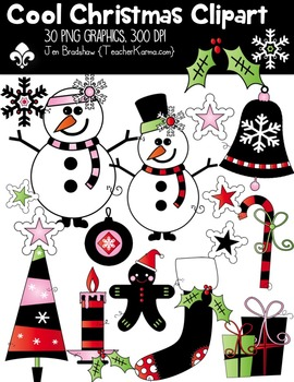 Cool Christmas Clipart ~ Commercial Use OK ~ Winter