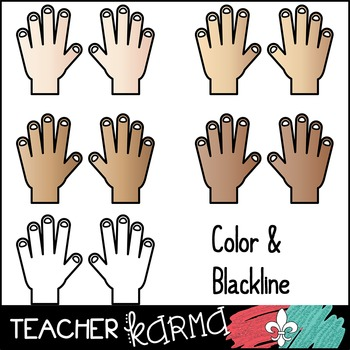 Counting Fingers / Hands Clipart