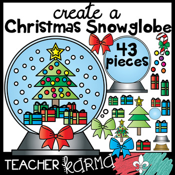 Create a Christmas Tree Snowglobe Kit- 43 pieces