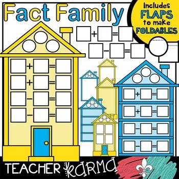 Fact Family House Clipart KIT * Foldables