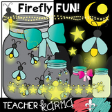 Firefly Fun Clipart Kit * Summer * Insects * Bugs