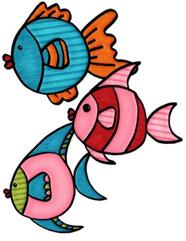 Fish & Tank Doodles Kit ~ Commercial Use OK ~ Build Aquarium