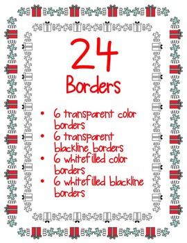 Fun CHRISTMAS Borders Clipart ~ Commercial Use OK ~ Winter