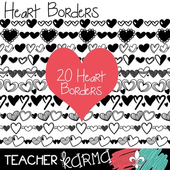 Heart Borders Clipart ~ Commercial Use OK ~ Valentine's Day