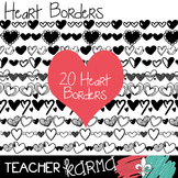 Heart Borders Clipart, Valentine's Day