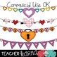 Heart Buntings Set Clipart ~ Valentine's ~ Commercial OK