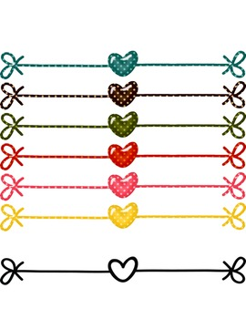 Heart Dividers: Dotted Clipart ~ Commercial OK ~ Valentine's Day