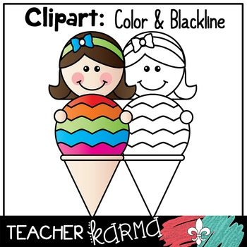 Ice Cream Kids * Seller's Kit * Clipart BUNDLE