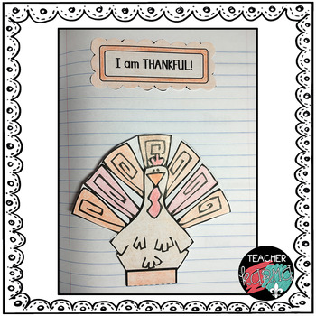 Interactive Thanksgiving Foldables Notebook