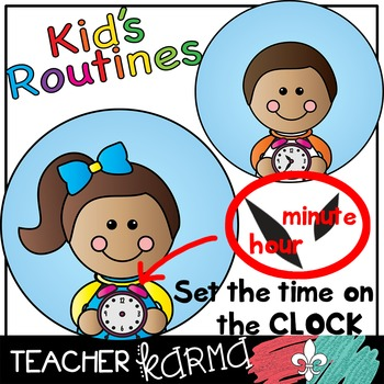 kid student daily routines picture schedule clipart by teacher karma rh teacherspayteachers com daily routine clipart images daily routine clipart pictures