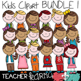 Kids Clipart BUNDLE #1  ~ Students ~ Commercial OK