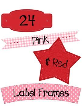 Labels: Red & Pink Frames ~ Commercial OK ~ Valentine's Day